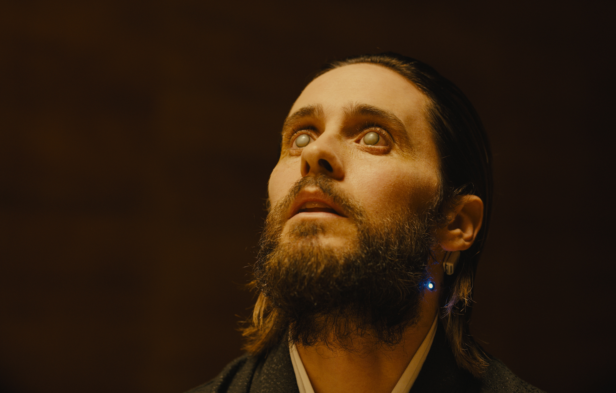 Jared Leto in Blade Runner 2049 in association with Columbia Pictures, domestic distribution by Warner Bros. Pictures and international distribution by Sony Pictures Releasing International.