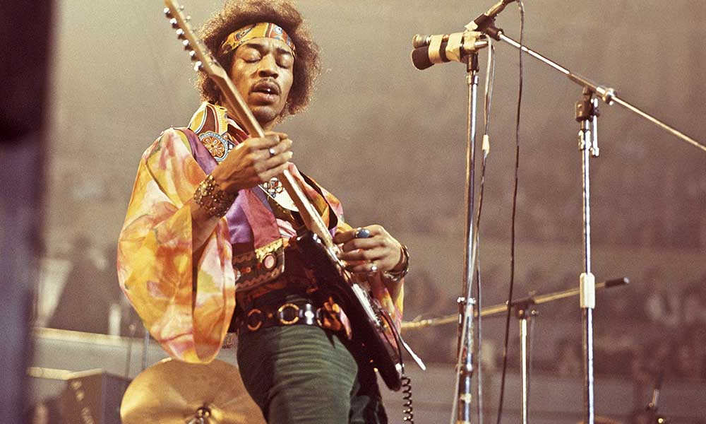 UNITED KINGDOM - FEBRUARY 24:  ROYAL ALBERT HALL  Photo of Jimi HENDRIX, performing live onstage  (Photo by David Redfern/Redferns)