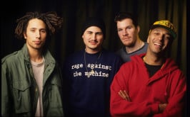 Rage Against The Machine, Zack De La Rocha, Tim Commerford, Brad Wilk, Tom Morello, Vaartkapoen (VK), Brussels, Belgium, 06/02/1993. (Photo by Gie Knaeps/Getty Images)