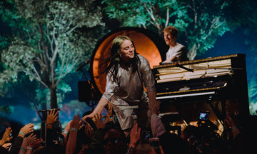 Billie Eilish and her brother Finneas O'Connell performed at the Apple Music Awards in Cupertino on Dec. 4, 2019