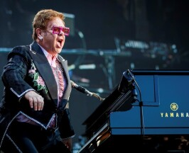 "British singer Elton John performs on the stage of the ""stade de la Saussaz"" during his final ""Farewell Yellow Brick Road"" tour at the 53rd Montreux Jazz Festival (MJF), in Montreux, Switzerland, Saturday, June 29, 2019.  THE CANADIAN PRESS/Valentin Flauraud/Keystone via AP"